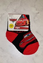Disney Pixar Cars Lightening McQueen Black Red White Boy's 4-5.5 Ankle Socks image 1