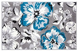Rugshop Modern Floral Area Rug, 2' X 3', Blue - $32.20