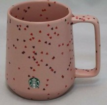 Starbucks 2020 Pink Hearts Valentine's Line Ceramic Coffee Mug Tea Cup 14oz - $38.56