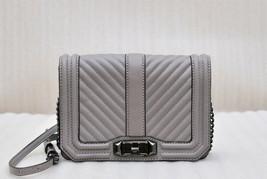 Rebecca Minkoff Chevron Quilted Small Love Crossbody Bag - Putty - $88.11