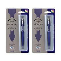 Parker Classic Chrome Trim Ball Pen Navy Blue (Combo of 2) - $16.73