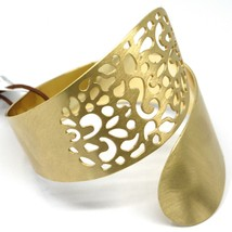 SOLID 925 STERLING SILVER BANGLE BRACELET, SNAKE FLOWER, DOUBLE, YELLOW SATIN  image 2