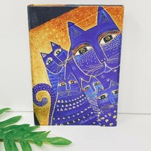 New LAUREL BURCH Notebook BLUE KITTY CATS Lined 1999 Diary Journal - $28.49