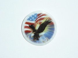 U.S. Flag Stars & Stripes & Eagle Bird Mother of Pearl MOP Shank Button ... - $11.99