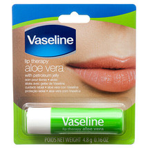 6 Vaseline Lip Therapy Aloe Lips Lip Balm with Petroleum Jelly for Providing - $10.49