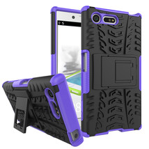 Armor Dual Layer Kickstand Protective Case for Sony Xperia X Compact - Purple  - $4.99