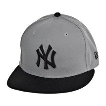 New Era New York Yankees 59Fifty Men's Fitted Hat Cap Grey-Black - £28.06 GBP