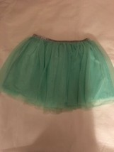 Girls Size Medium 7-8 Faded Glory Solid Mint Green Aqua Tulle Skirt Tutu... - $12.00