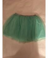 Girls Size Medium 7-8 Faded Glory Solid Mint Green Aqua Tulle Skirt Tutu... - $12.00