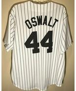 Houston Astros Roy Oswalt #44 MLB NL White Black Pinstripe Vintage Jerse... - $148.49