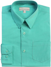 Boy's Classic Fit Long Sleeve Casual Button Down Toddler Kids Dress Shirt image 2