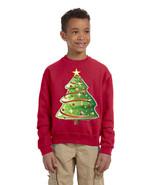 Kids Youth Sweatshirt Christmas Tree Cute Xmas Present Top - $28.94
