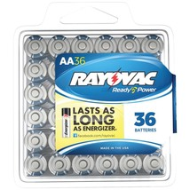 Rayovac Alkaline Batteries Reclosable Pro Pack (aa, 36 Pk) RVC81536PPF - $36.44