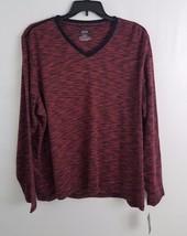Alfani Mens Tri-Color Space Dyed Long Sleeve T-Shirt Port Combo XXL - $12.99