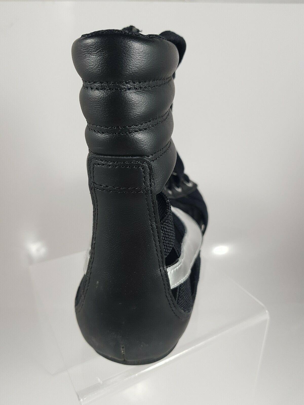 NIKE WOMEN'S SANDALS GLADIATEUR II Leather BLACK/METALLIC SILVER 429881 003 image 4