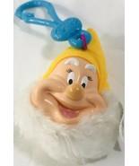 Mc Donalds Disney Snow White Key Chain Happy Dwarf Plush Doll Head Colle... - $11.76