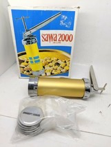 VINTAGE SWEDISH SAWA 2000 DELUXE COOKIE PRESS Minus Booklet - B2 - $13.99