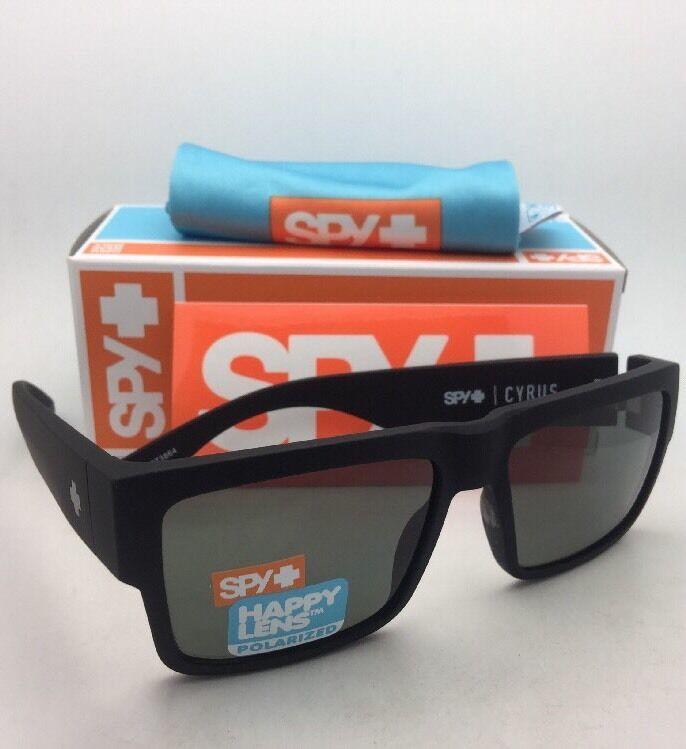 Polarisiert Spy Optic Sonnenbrille Cyrus Weich Matt Schwarz Rahmen W / Happy
