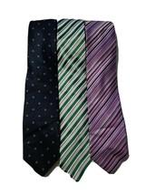 2 Clericci Mens Multi Color Striped Neck Ties Handmaid 1 Navy Blue Tie 1... - $20.53