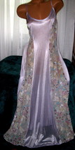 Light Lilac Nightgown Floral Lace Panels 1X Plus Size Sheer - $23.00