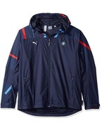 Puma BMW Motorsports Graphic LW Jacket Team Blue Full ZIp Windcell Size L - $130.00