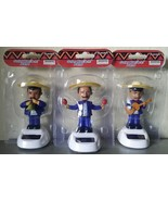SET of 3 MARIACHI BAND SOLAR powered dashboard bobble men musician BLUE - $9.00
