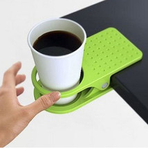 feiqiong Stylish Clip On Cup Holder Desk Table Beverage - £9.04 GBP