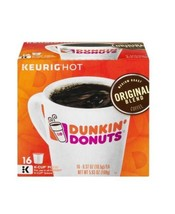 Dunkin' Donuts Original Blend Coffee for K-cup Pods 16 count Medium Roast. - $15.51