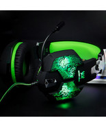 Gaming Headset Headphone With Microphone 3.5mm Stereo LED Light PC Compu... - $37.99