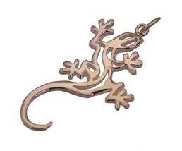 Tribal Celtic Lizard Tattoo Design Gecko Jewelry 18K Rose Gold Plated Charm New - $24.50