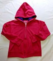 Girl's Hanes Soft Sweats Pink/Purple Zippered Heavy Hoodie Sweatshirt Jacket 7/8 - $9.00