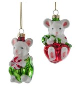 Katherine's Collection mouse Christmas ornament mice 18-649043 Set Of 2 - $29.99