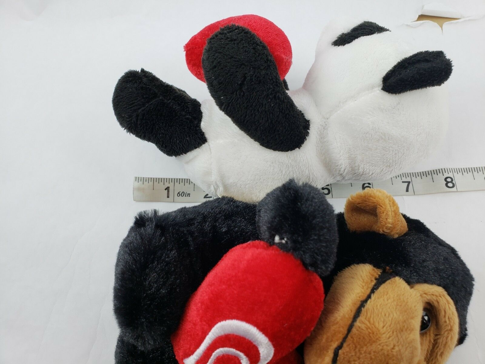 "Dann Dee Collectors Choice Monkey Panda 8"" Plush Heart Lot of 2 Stuffed Animals image 8"