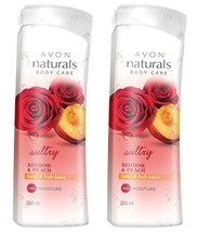 Avon New York Naturals Red Rose Peach Body Lotion 200ml each (Pack of 2)... - $36.52
