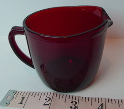 Ruby Red Creamer mid century glass - $4.90