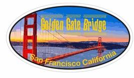 Golden Gate Bridge Oval Bumper Sticker or Helmet Sticker D3652 California - $1.39+