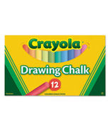 Crayola Colored Drawing Chalk, Assorted Colors 12 Sticks Set New - $12.22