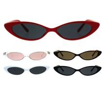 Womens Classic Vintage Narrow Goth Cat Eye Plastic Sunglasses - $9.95