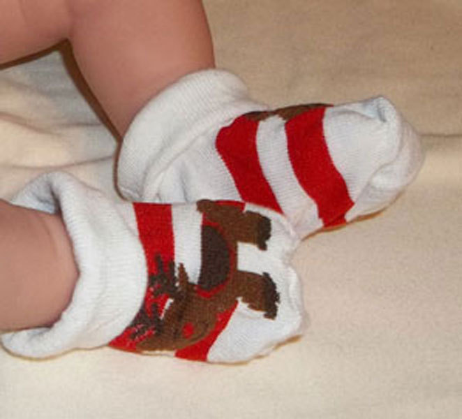 Primary image for Newborn Babys Reindeer Bootie Socks