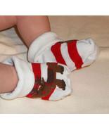 Newborn Babys Reindeer Bootie Socks - $3.00