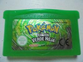 POKEMON EDICION VERDE HOJA PARA LA NINTENDO GAME BOY ADVANCE GBA EN BUEN... - $9.88
