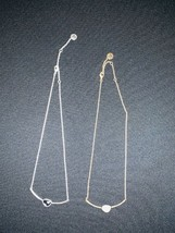 """19"""" fine rope chain with bar with stone gold or silver - $5.00"""
