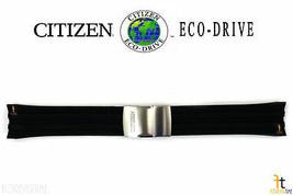 Citizen 59-s53460 S067383 Original Caoutchouc Noir Bracelet de Montre S073316 - $116.11