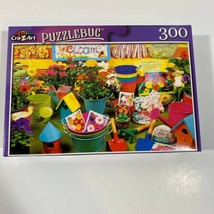 "PUZZLEBUG CraZart 18.25"" X 11"" Puzzle 300 Piece GARDENING TIME FROGS - NEW - $11.27"