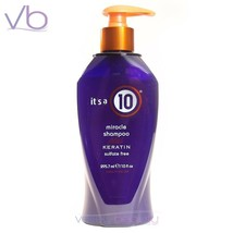 IT'S A 10 Miracle Shampoo Plus Keratin 10oz  Made In USA Sulfate FREE, i... - $23.90