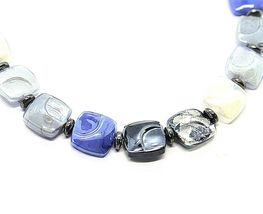NECKLACE ANTICA MURRINA VENEZIA WITH MURANO GLASS BLUE SILVER BLACK CO988A06 image 3
