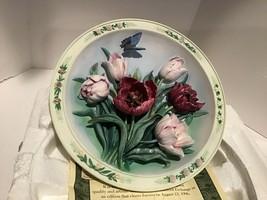 Bradford Exchange Lena Liu Numbered - Tulip Garden -  Plate w/COA 1996 - 3D - $19.95