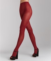 HUE Opaque Sheer-to-Waist Tights Sangria Red size 1 - €3,95 EUR