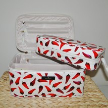 Kate Spade Large Colin Daycation Hot Peppers Cosmetic 2pc Case