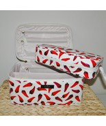 Kate Spade Large Colin Daycation Hot Peppers Cosmetic 2pc Case - $98.00